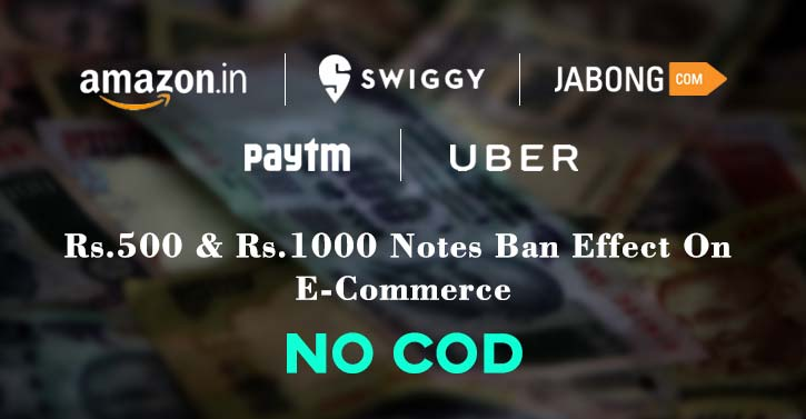Modi Says: No Black Money ; Online Shopping Says: No Cash On Delivery